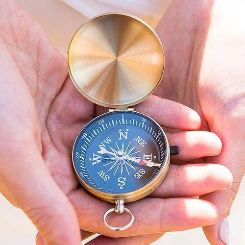 Gold Compass Wedding Favors-Pack of 6