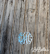 Monogram Sterling Silver Necklace-Monogram Cut Out Necklace-Monogrammed Necklace
