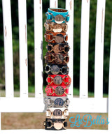 Monogrammed Leather Cuff Bracelets-FAST Shipping! The Original!