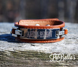 Engraved Leather Nameplate Bracelet