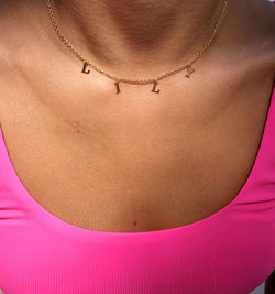 Cut Out Name Choker Necklace