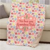 Personalized Floral Sherpa for Grandma