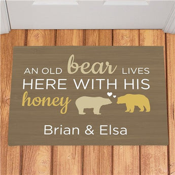 Personalized Bear And His Honey Doormat