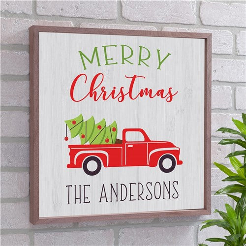 Personalized Merry Christmas Wood Wall Decor