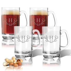Monogram Antler Mug Set