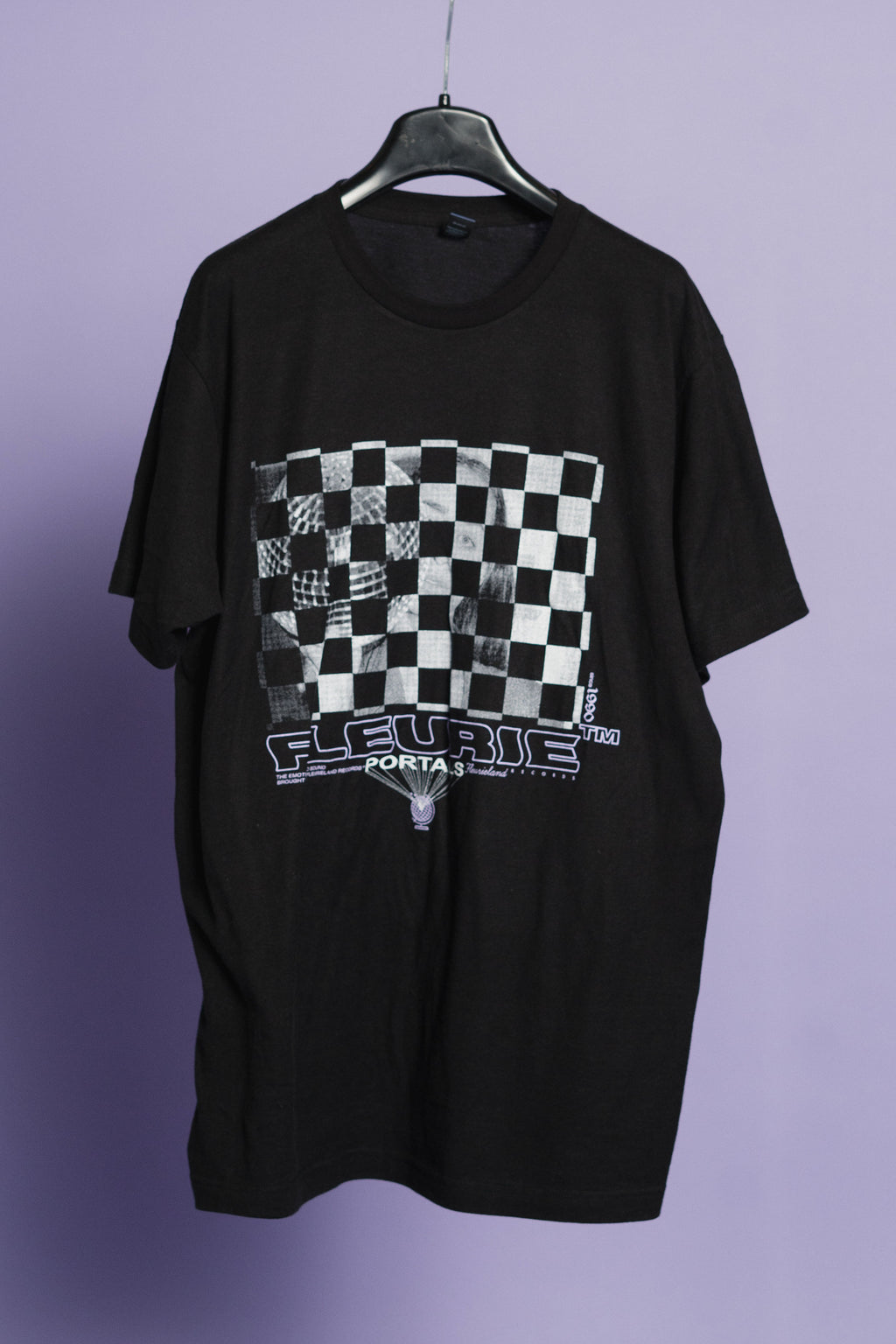 Black Checkerboard Tee