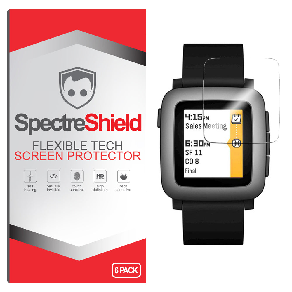 [6-Pack] Pebble Time Screen Protector