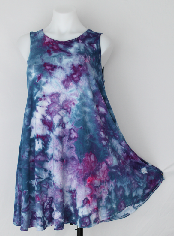 Sleeveless tunic - size Small - Blueberry crinkle