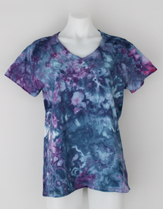Ladies T shirt - size Large - Blueberry crinkle