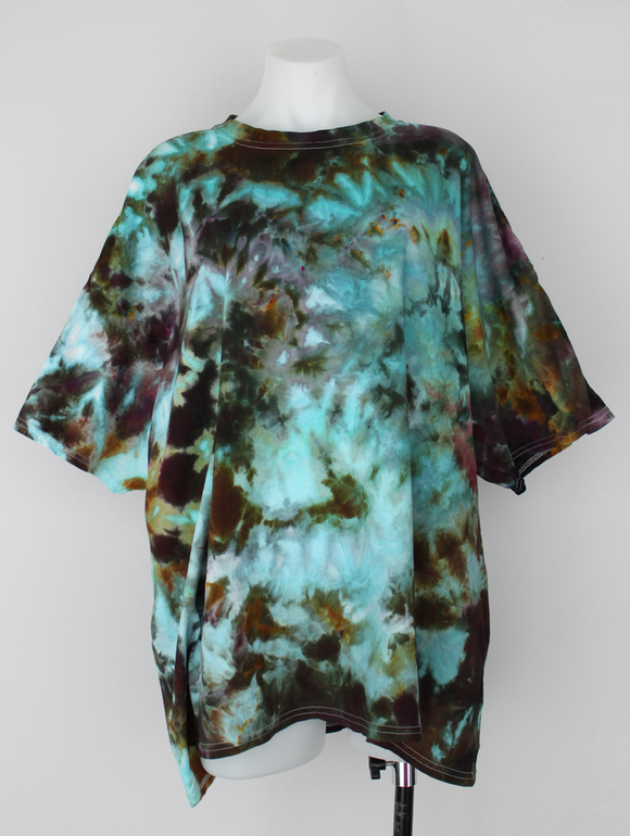 Men's t shirt ice dye size XXL - Chaotic Adventure crinkle