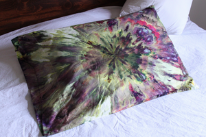 Tie dye Queen size pillow case qty 1 - ice dye 600 TC Kimmy's Purple 2