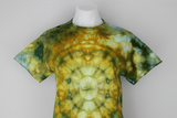 Men's shirt size Small unisex ice dyed - Artshow Painting mega eye