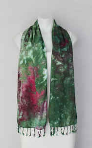Rayon Scarf ice dyed - Betty's Smile crinkle