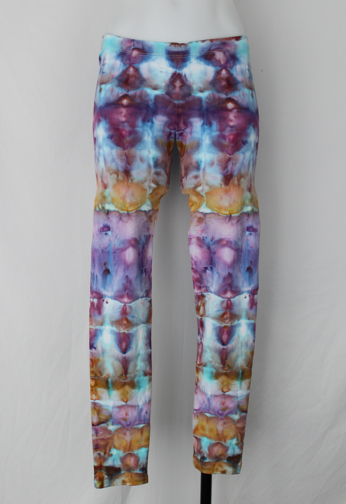 Leggings size Medium - Carnival stained glass