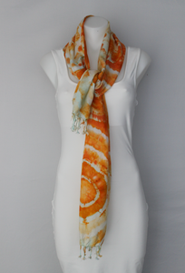 Rayon Scarf ice dyed - Fantastica bulls eye