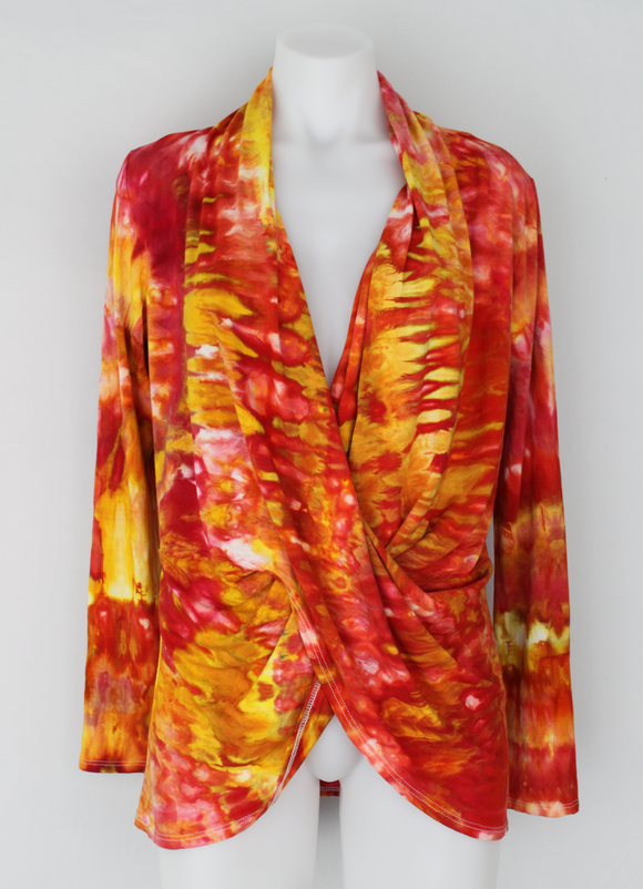 Criss cross Cardigan - size Small - Fire on the Mountain snakeskin