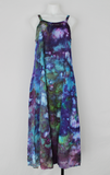 Long rayon sundress with embroidered cut out design - size Small - Handful of Gems crinkle