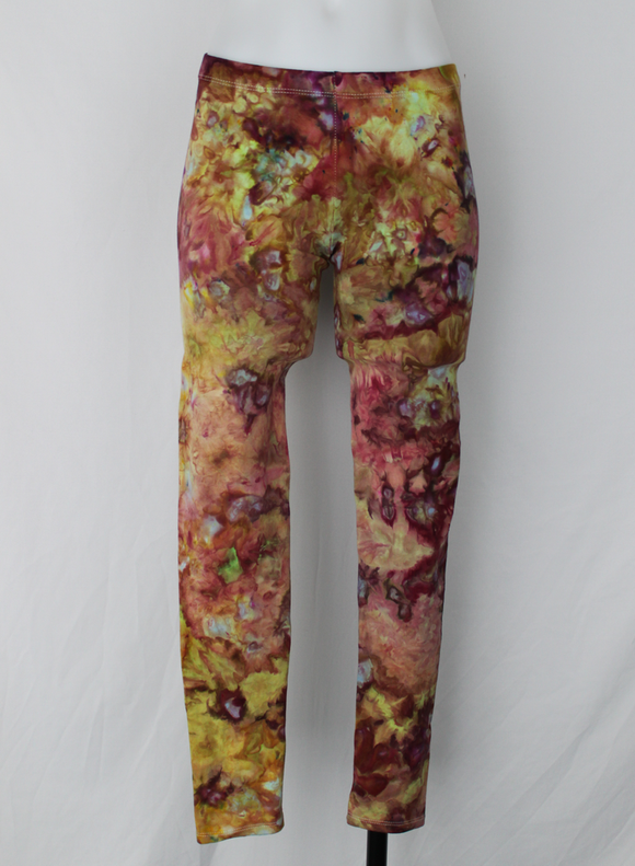 Leggings size Small - Hibiscus Crown (light) crinkle