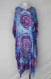 Rayon Caftan One size fits most ice dye - Lavender Garden double eye