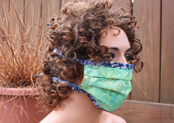 Fabric face mask - Minty blue