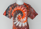 Men's ice dyed t shirt - size Medium - Molten Lava twist