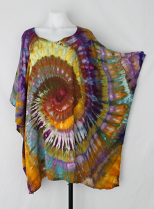 Rayon poncho ONE SIZE FITS MOST ice dye - Na's Favorite twist