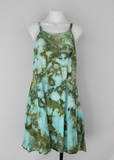 Rayon Sundress - size Small - ice dye - Sea Glass crinkle