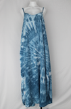 Rayon Slip on Maxi Dress - size XL - Summer Sky side twist