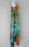 Rayon Slip on Maxi Dress - size Small - Abalone centered eye