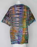 Men's cotton t shirt size XL - Abalone snakeskin