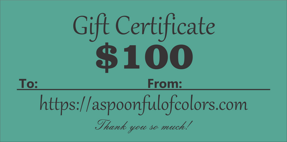 Gift Certificate $100 Value