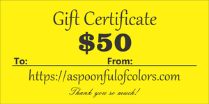 A Spoonful of Colors Gift Card
