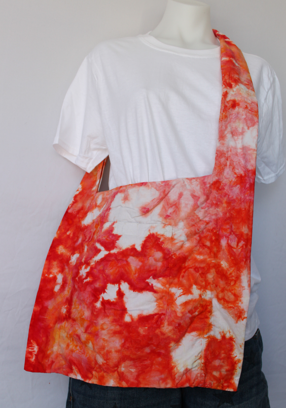 Ice dye Shoulder bag cotton - Angel Wing crinkle