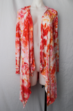 Hooded Cardigan - size Small - Ice dyed - Angel Wings