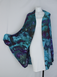 Rayon Cocoon Jacket shawl One size fits most - Angelica crinkle
