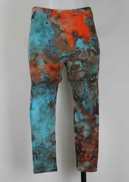 Tie dye capri Leggings size Medium - Arizona Sky (1)