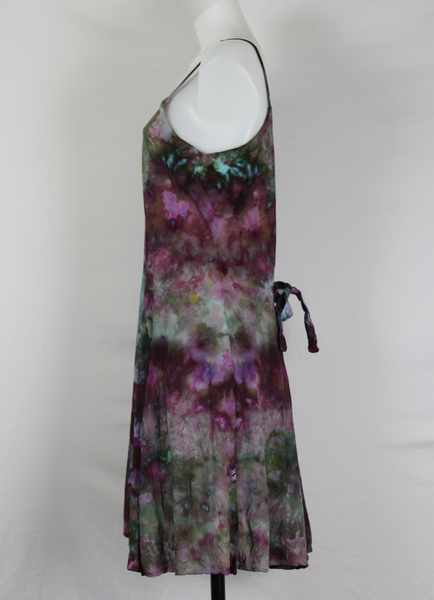 Tie dye dress boho chic festival fashion sundress - size Medium - Blackberry Mint crinkle