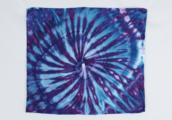 Cotton Flour sack towel - ice dye - Blue Moon twist