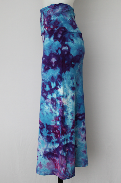 Medium Tie dye skirt MIDI length - Blue Onyx crinkle