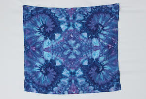 Flour sack towel cotton - ice dye - Blue Onyx