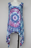 Ladies Large Asymmetrical Tunic - Blue Onyx