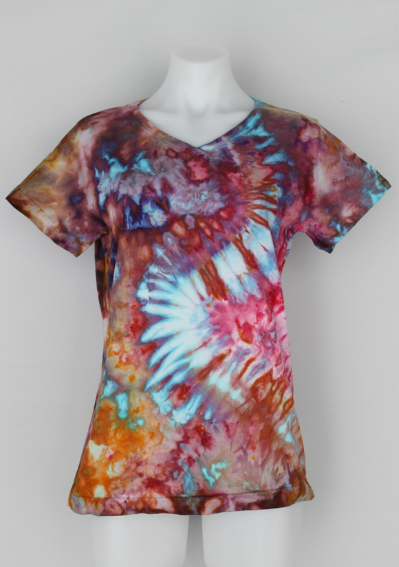 Tie dye shirt Ladies size medium ice dye - Carnival (7)