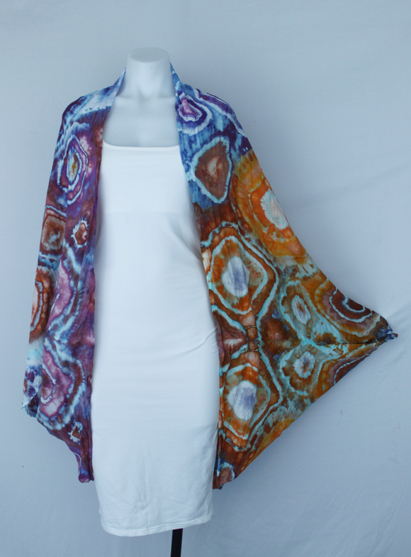 Rayon Cocoon Jacket shawl One size fits most - Carnival bullseye