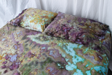 Ice dyed Queen bed sheet set - 100% cotton - 600 thread count - Chaotic Adventure