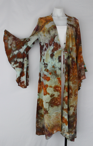 Long Trumpet sleeve Kimono size 2X - Chaotic Adventure crinkle