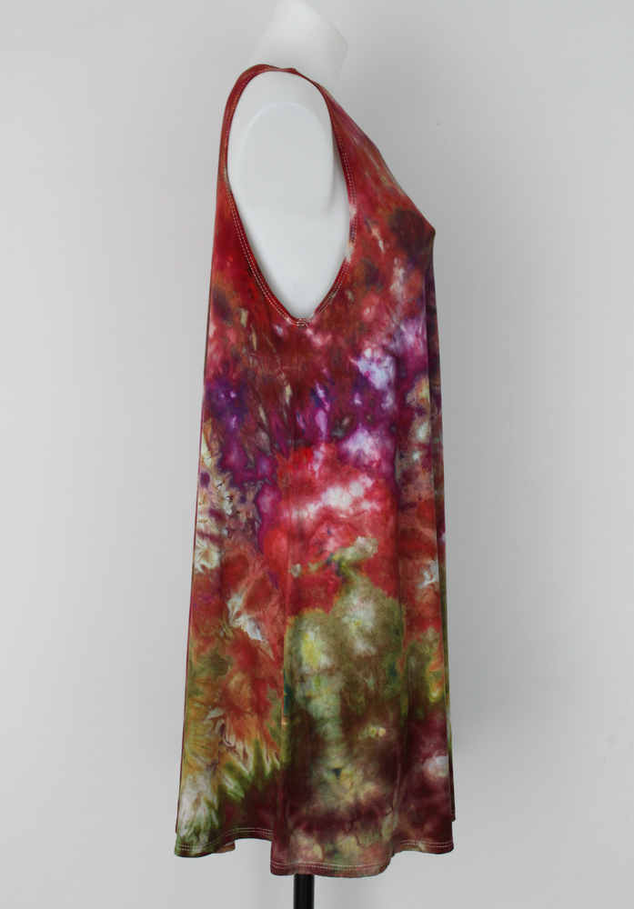 Sleeveless tunic size Large ice dye - Color Burst crinkle