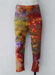 Capri leggings - size Small - ice dye - Confetti crinkle