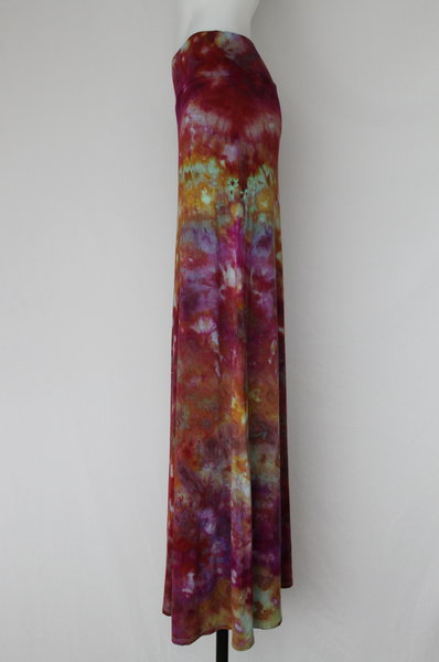 XL Maxi skirt Festival fashion ice dye - Confetti crinkle