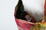 Tie dye bag Farmer's Market style organic cotton canvas - Confetti crinkle
