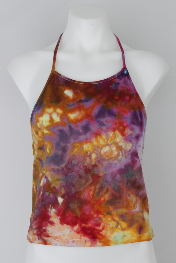 Tie dye medium Halter top ice dye juniors sizing - Confetti crinkle